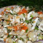 Рыбные салаты Закуски