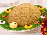 Салат «Черепаха» Украинская кухня