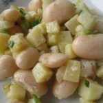 Салат из белой фасоли и картофеля Салаты