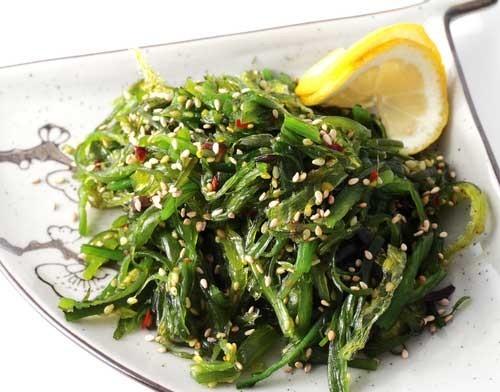 Салат из дайкона и морской капусты Японская кухня