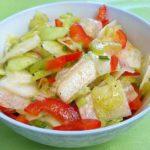 Салат из дайкона с помидорами Японская кухня