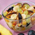 Салат из фруктов с орехами Салаты