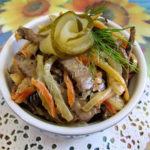 Салат из говяжьей печени Салаты