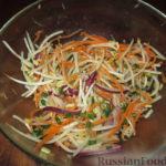 Салат из индейки с ростками сои Японская кухня