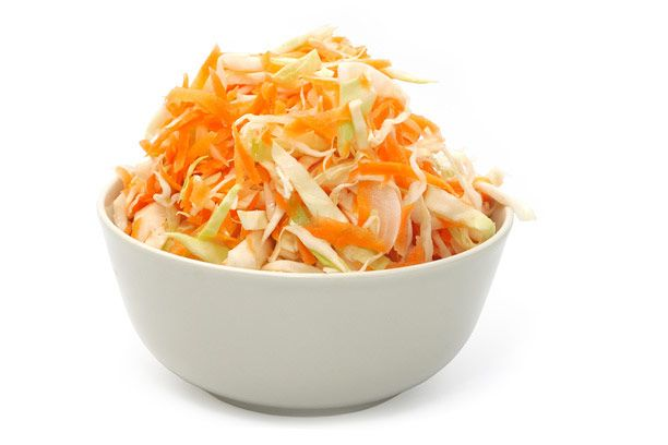 Салат из капусты, яблок и моркови Русская кухня