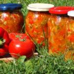Салат из консервированных красных помидоров (зимний) Салаты