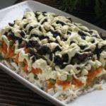 Салат из копченой курицы Русская кухня