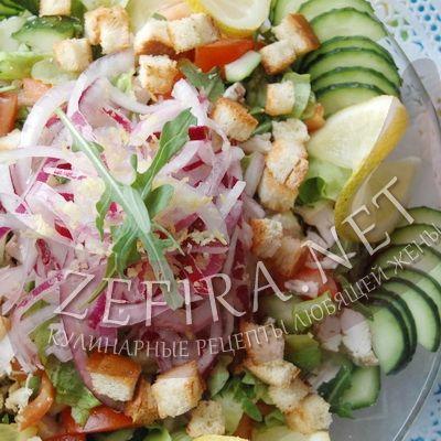 Салат из курицы с экзотическими фруктами