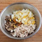 Салат из куриного филе с шампиньонами Русская кухня
