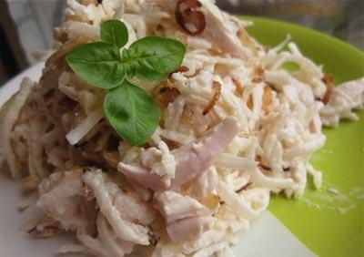 Салат из куриного филе Русская кухня