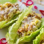 Салат из куриной печени и пекинской капусты Японская кухня