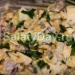 Салат из куриных субпродуктов с огурцами и сливками Японская кухня