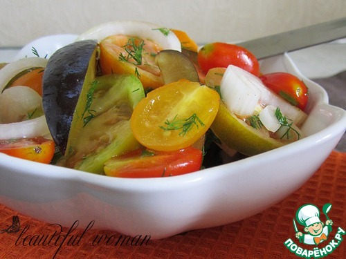 Салат из лука с томатами Заготовки, консервирование