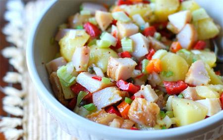 Салат из минтая, картофеля и кукурузы Салаты