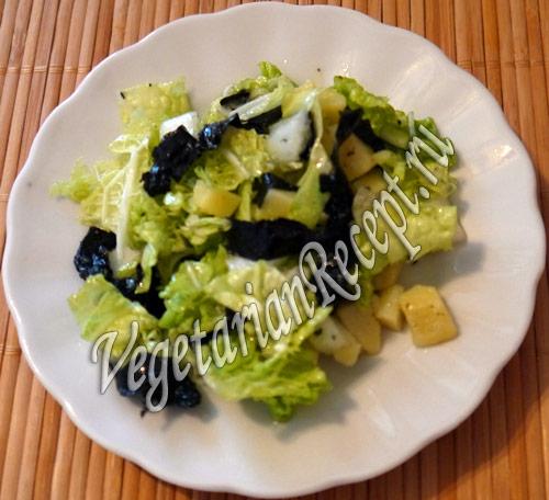 Салат из морской рыбы и нори Японская кухня