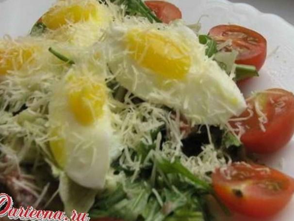 Салат из морской рыбы с рисом