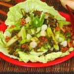 Салат из овощей с грибами и морской капустой Японская кухня