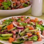 Салат из овощей с ветчиной Праздничный стол Салаты