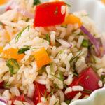 Салат из риса с овощами Армянская кухня