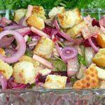 Салат из селедки острый Салаты