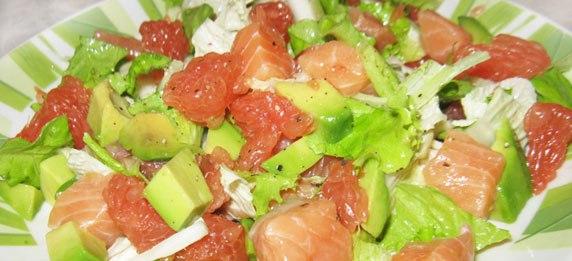 Салат из семги с авокадо Салаты