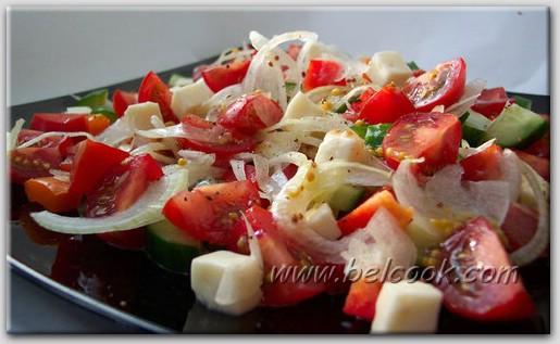 Салат из свежих овощей с брынзой Армянская кухня
