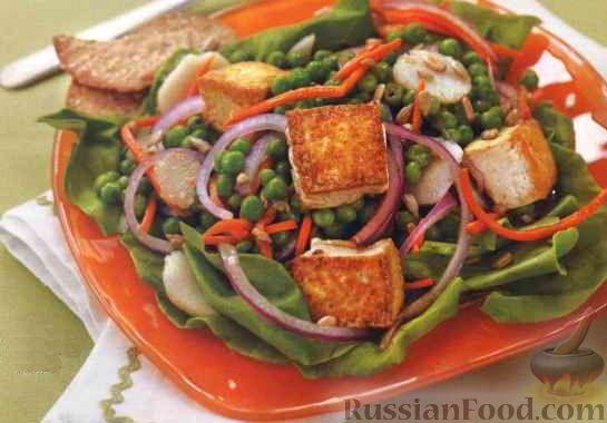 Салат из свиных ножек с тофу Японская кухня