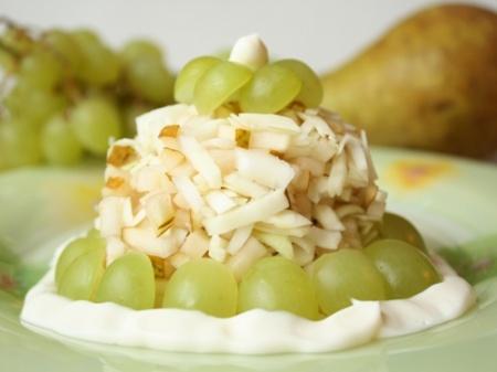 Салат из яблок с йогуртом Салаты