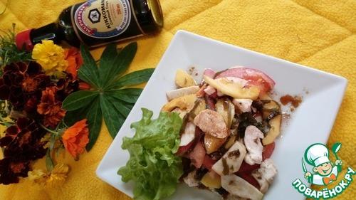 Салат морской с манго