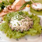 Салат мясной с сырной заправкой Овощные блюда Турецкая кухня