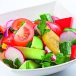 Салат овощной летний Русская кухня