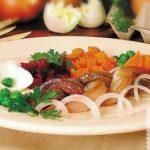 Сельдь с гарниром Рыбацкая кухня