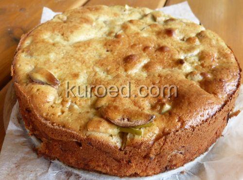 Рецепт шарлотки с яблоками сметане фото