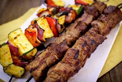 Шашлык говяжий по-сибирски Вторые блюда Шашлыки