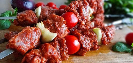 Шашлык из баранины с томатным соком Грузинская кухня
