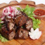 Шашлык из печени Казахская кухня