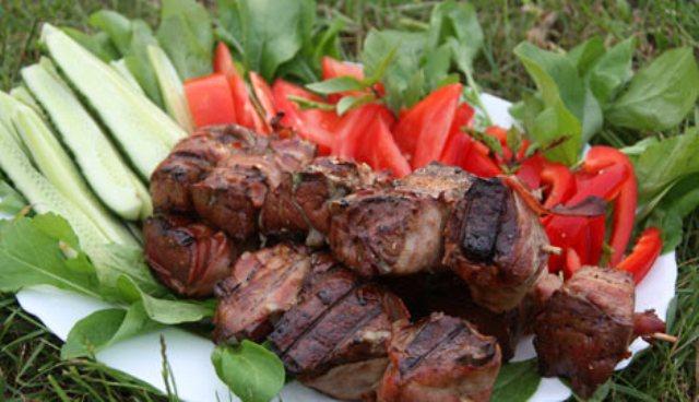 Шашлык из почек Вторые блюда Шашлыки