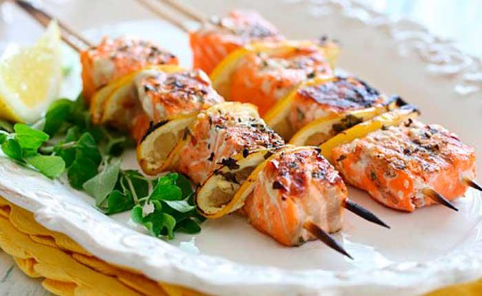 Шашлык из судака Вторые блюда Шашлыки