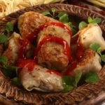 Шахлет (голубцы из нутряного сала и мяса) Вторые блюда Таджикская кухня