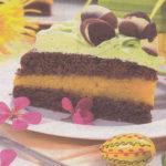 Шоколадно-персиковый торт Выпечка