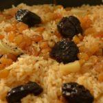 Сладкий плов (рис с черносливом) Молдавская кухня