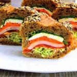 Слоеные бутерброды Закуски
