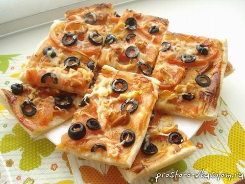 Слоёное тесто для пиццы