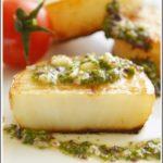 Стейки из лосося с соусом из дайкона Японская кухня