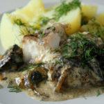 Судак с грибами Блюда из рыбы Вторые блюда