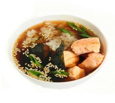 Суимоно из лосося Японская кухня