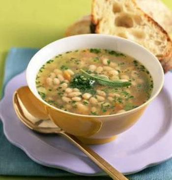 Суп из фасоли с орехами