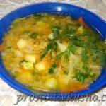 Суп из красной чечевицы с овощами Супы