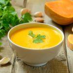 Суп из запеченной тыквы по-французски Супы