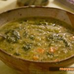 Суп из зеленой чечевицы с грибами Супы